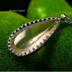 nehesi,naszyjnik,wisior,srebrny,boho,kwarcem - Naszyjniki - Biżuteria