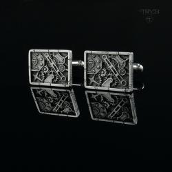 spinki do mankietów,prostokątne,steampunk - Dla mężczyzn - Biżuteria