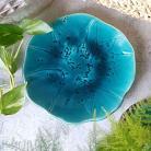 Ceramika i szkło patera turkusowa,niebieska,talerz,ceramika,turkus