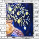 Obrazy akryl,obraz na płotnie,cytryny