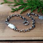 Bransoletki z perłą,łańcuszkowa,srebrna,regulowana