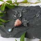 Naszyjniki srebrny naszyjnik w stylu boho,prezent dla niej