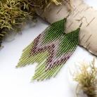 Kolczyki zielone długie kolczyki,kolczyki na lato