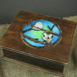 szkatułka,ptaki,raniuszki - Pudełka - Wyposażenie wnętrz