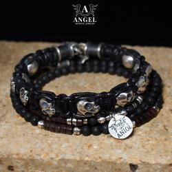 męska biżuteria z czaszkami,surowa bransoleta - Dla mężczyzn - Biżuteria