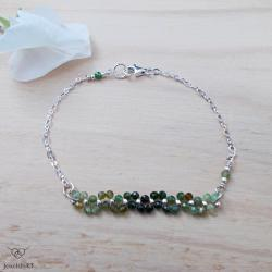 srebro,lekka bransoletka,zielone,JewelsbyKT - Bransoletki - Biżuteria