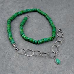 duży,surowy,młotkowany,łańcuch,ogniwka,kropla - Naszyjniki - Biżuteria