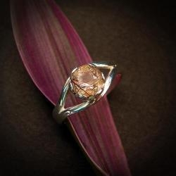 kwarc rutylowy srebrny pierścionek - Pierścionki - Biżuteria