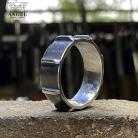 Dla mężczyzn biżuteria męska,surowa obrączka męska