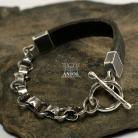 Dla mężczyzn ręcznie kuta biżuteria męska,masywna bransoleta