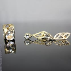 Kwarc,azurowy,komplet,pozlacany - Komplety - Biżuteria