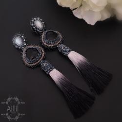 aillilstudio,ekskluzywne,chwosty,klasyczne - Kolczyki - Biżuteria