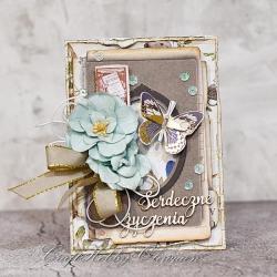 motyl,urodziny,imieniny,rocznica,kartka - Kartki okolicznościowe - Akcesoria