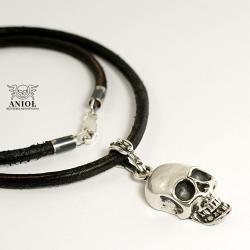 naszyjnik z czaszką,męska surowa biżuteria - Dla mężczyzn - Biżuteria