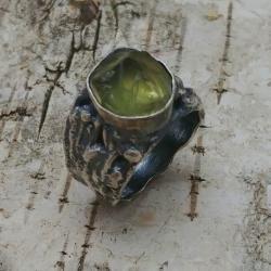 APATYT,ciężki,srebrny,surowy,złocisty,retro,oksyda - Pierścionki - Biżuteria
